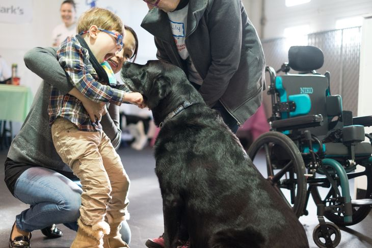 Special Needs Boy with Special Pup